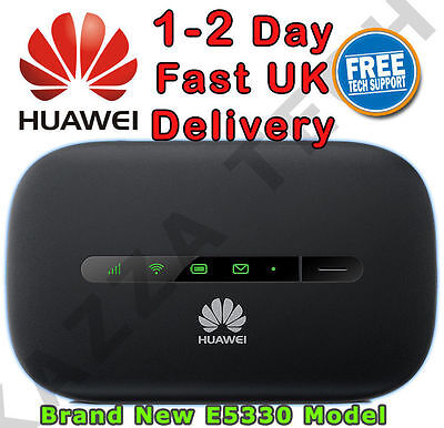 HUAWEI E5330 UNLOCKED BLACK HSPA+ Mobile MIFI WIFI 3G 4G Wireless Modem Sim Free