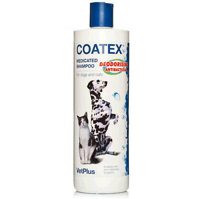 Coatex Medicated Shampoo 500Ml Anti-Bacterial Anti-Fungal Action Cats And Dogs