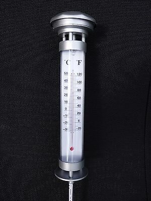 GRUNDIG LED-SOLARLAMPE mit Thermometer und LED-Beleuchtung