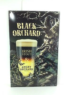 Angry Orchard Hard Cider Beer Sign Irish Stout Black Orchard New!! 17 X 11