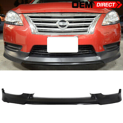 Fit For 13-17 Nissan Sentra OE Style Front Bumper Lip Spoiler PU