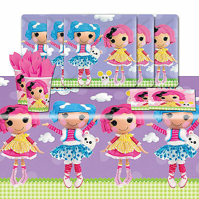 Lalaloopsy Rag doll Childrens Birthday Complete Party Tableware Pack For 16