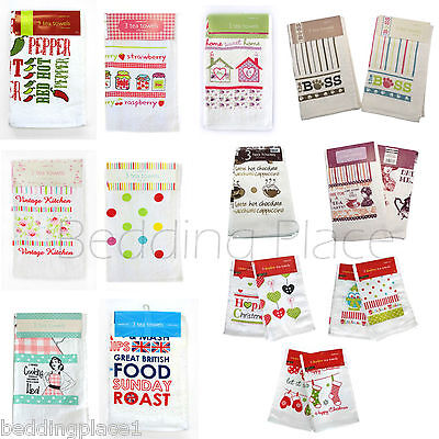 3 Pack Velour 100% Cotton Tea Towel Kitchen Dish Cleaning Cloth Super Absorbent