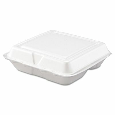 Dart Takeout Foam Clamshell Food Containers - DCC80HT3R