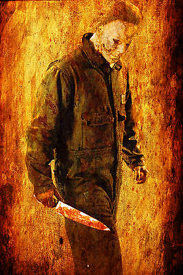 Michael Myers Zombie WALL ART CANVAS FRAMED OR POSTER PRINT