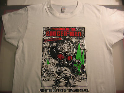 INVASION OF THE SAUCER MEN T-SHIRT/horror/fantasy/movie/hollywood/space/aliens