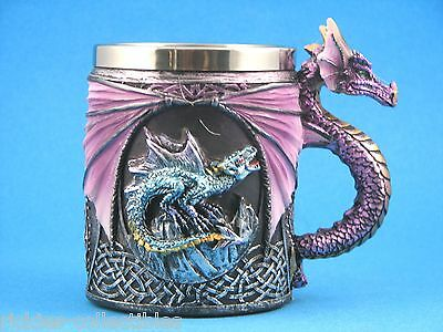 Gothic Medieval Skull & Bones Dragon Mug / Cup * New in Box *