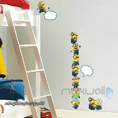 10 Minions Despicable Me Removable Wall stickers Decal Kids Decor Home Mural Art