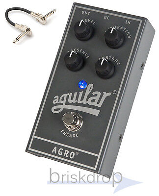 Aguilar Agro Bass Overdrive Pedal *B-Stock w/ IRG 6 inch cable, 2-3 day Priority