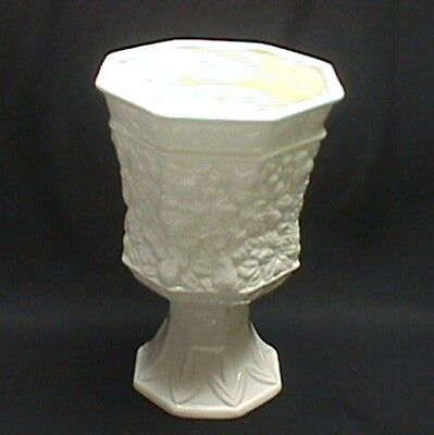 Lefton White Vase With Embossed Fruit H6373