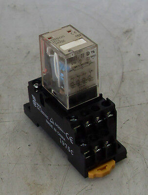 Omron Cube Relay MY4, With Base, 24VDC, Used, Warranty