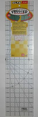 """OLFA Non Slip Frosted Acrylic Quilting Ruler 6"""" x 24"""" Fabric Paper QR-6x24"""