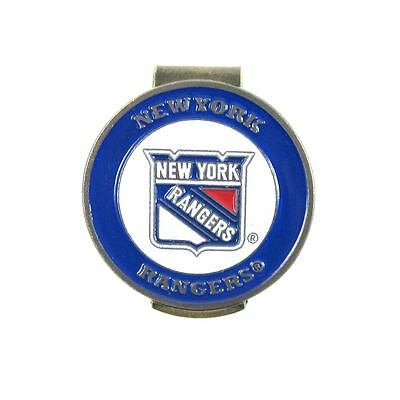 New York Rangers Hat Clip with Double Sided Golf Ball Marker