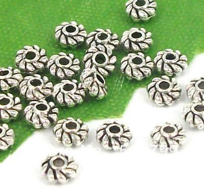 Wholesale 500/2000Pcs Tibetan Silver Spacer Beads For Jewelry Making DIY 4x2mm