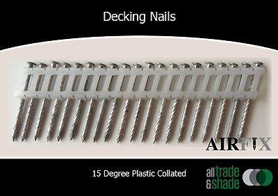 Decking Nails - 15 Degree - Gal - Screw Shank - Size: 50 x 2.5mm - Box: 1800