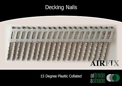 Decking Nails - 15 Degree - S/S - Dome - Screw - Size: 50 x 2.5mm - Box: 1800