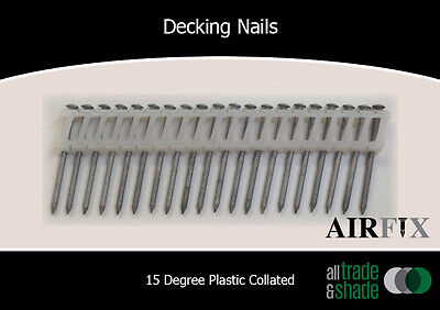 Decking Nails - 15 Degree - S/S - Dome - Ring - Size: 50 x 2.5mm - Box: 1800