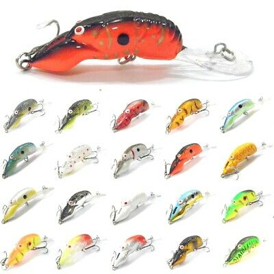 Crawfish Crankbait Fishing Lures Deep Diver Tight Wobble Slow Floating C569