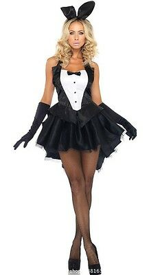 Sexy Bunny Girl Rabbit Women Cosplay Outfit Party Costume Halloween Clubwear