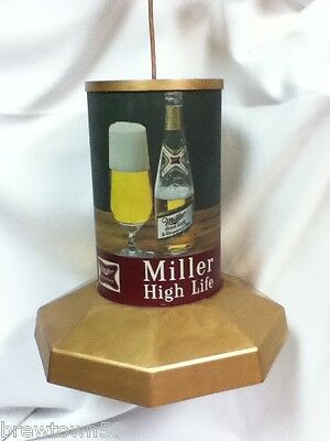 NM1 MILLER BEER SIGN LIGHT LIGHTED BAR SIGNS 1 POOL TABLE LAMP HANGING HIGH LIFE