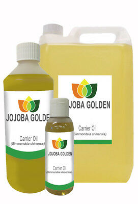 Jojoba Golden Pure Unrefined Carrier Oil 10ml 50ml 250ml 500ml 1L 5L 10L 25L