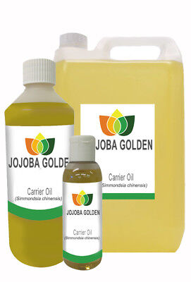 Jojoba  Golden Unrefined Oil Pure Natural Carrier Massage Aromatherapy Oil