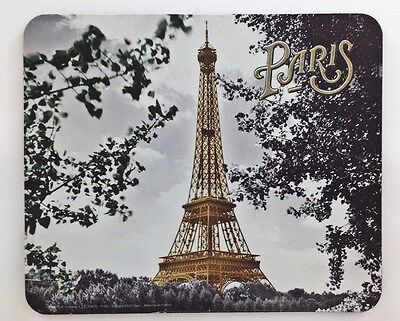 """Mouse Pad - Photograph of the Eiffel Tower through Trees with """"Paris"""" - Stunning"""