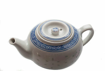 M.V. Trading Chinese Traditional Porcelain Blue and White Rice Pattern Tea Pot