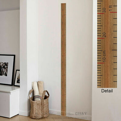 Ruler Height Chart Kids Measurement Wall Stickers Nursery Decor Removable Decal