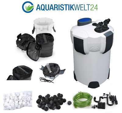 SUNSUN Aquarium Außenfilter 1400 L/h 3 Stufen 700l +UV-Cleaner! +Filtermaterial!