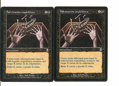 mtg Magic 2x Skeletal Scrying ( Adivinacion esqueletica ) Spanish NM-