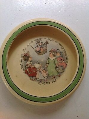 Antique Baby Bowl   - Old Woman, Old Woman  -