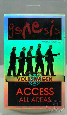GENESIS 1992 USA LAMINATED BACKSTAGE PASS laser foil