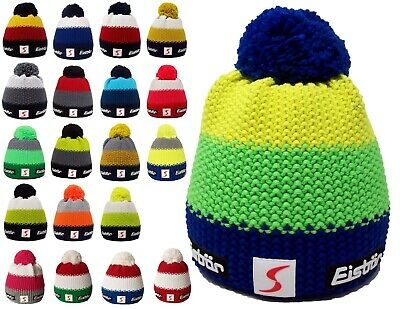 NEW- EISBAR STAR POMPON MU SP Merino Wool Winter Sports Ski Hat |FREE UK P&P