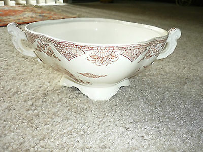 Antique Aesthetic Movement Transferware Tureen/No Lid/T Furnival 7 Sons/1878