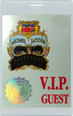 Michael Jackson 1992 Laminated Backstage Pass Vip