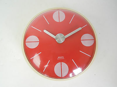 ORIGINAL 1970s KRUPS WALL CLOCK PANTON SPACE AGE OP POP ART DANISH MODERN 60s