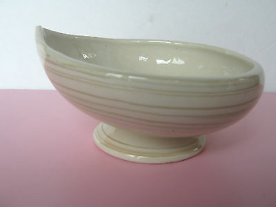 McCoy Pottery Swirled Cream and Green Planter circa 1950 Excellent