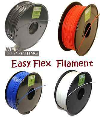 Flexible 3D Printer Filament - EasyFlex TPE in 1.75mm & 3mm Thermoplastic Flex
