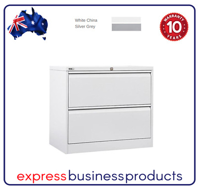Lateral Filing Cabinet 2 Drawer Two Colours - GLF2 **FREE SHIPPING**