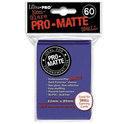 ULTRA PRO 60 PRO MATTE-SMALL SIZE BLUE DECK PROTECTOR SLEEVES 84021 fit YuGiOh