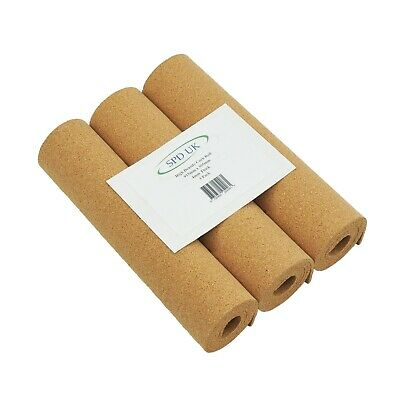 CORK SHEET - 3 ROLLS - 300 mm X 1000 mm LONG - 4 mm THICK