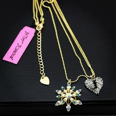 Betsey Johnson new Christmas snowflake necklace 1208 !