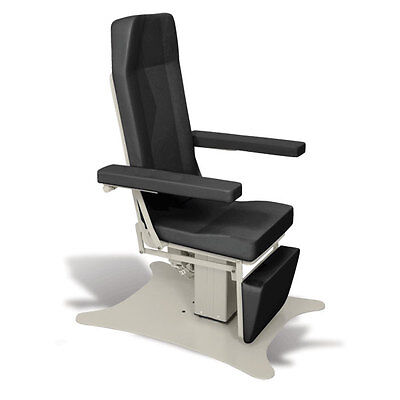 Reclining Electric Phlebotomy Chair with CAL 133 Fire Code Vinyl Onyx 1 ea