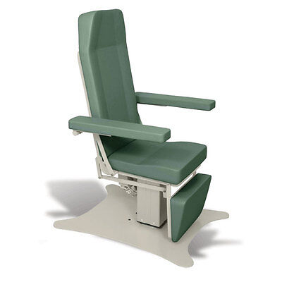 Reclining Electric Phlebotomy Chair with CAL 133 Fire Code Vinyl Sage 1 ea