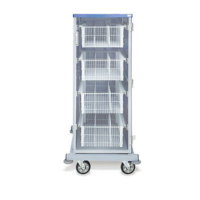 """Enclosed Cart with Baskets Tall I.V. with Dividers  Single Wide  26""""W x 29""""D ..."""