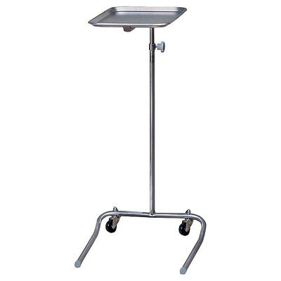 Mobile Instrument/Tray Stand Chrome 1 ea