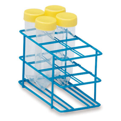 """30mm Tube Rack for 50mL Test Tubes Small  Holds 8 tubes  6""""L x 3""""W x 3.5""""H 1 ea"""