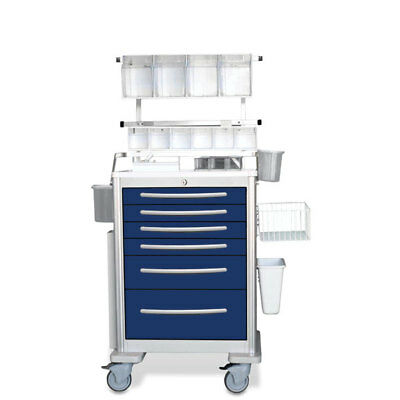 Aluminum Anesthesia Cart with Deluxe Accessory Package 1 ea