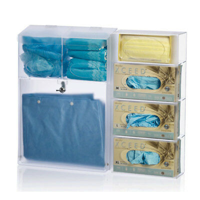 """All-in-One PPE Dispenser • 23""""W x 4.5""""D x 21.25""""H 1 ea"""